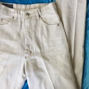 Ultra High Rise Tan Western Jeans